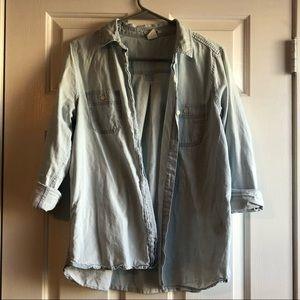 Long Sleeve Denim Button Up